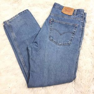 Levi's 505 Jeans Relax Fit Straight Leg 40W 32L